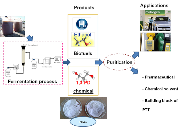 Multi-biofuel and value-added products production from co-digestion of glycerol waste discharged after biodiesel production process and algal biomass